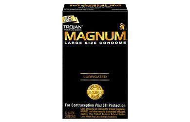 trojan magnum size
