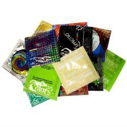 colored condoms variety
