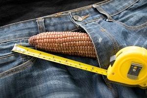 measure penis size-